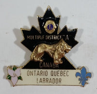 "Vintage Multiple District ""A"" Ontario Quebec Labrador Lions Club Pin"