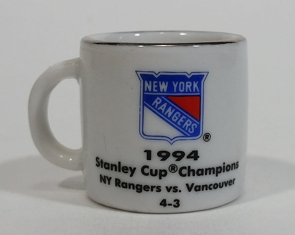 NHL Stanley Cup Crazy Mini Mug New York Rangers 1994 Champs W/ Opponent & Score - Treasure Valley Antiques & Collectibles