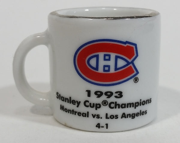 NHL Stanley Cup Crazy Mini Mug Montreal Canadiens 1993 Champs W/ Opponent & Score - Treasure Valley Antiques & Collectibles