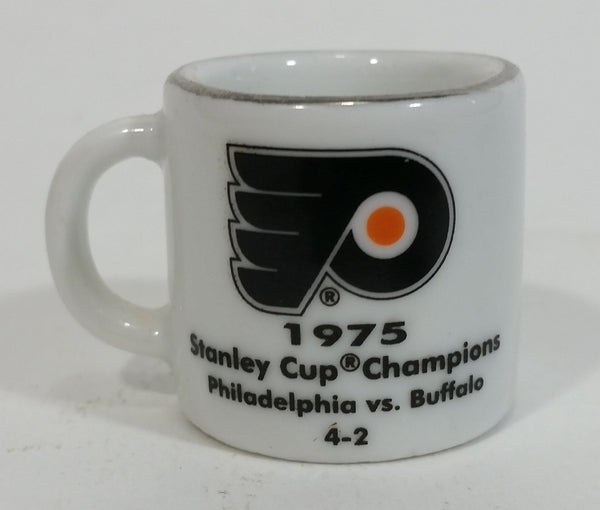NHL Stanley Cup Crazy Mini Mug Philadelphia Flyers 1975 Champs W/ Opponent & Score - Treasure Valley Antiques & Collectibles