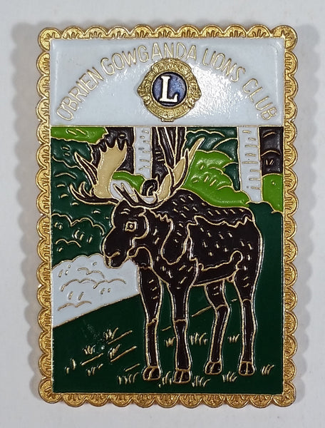 Vintage O'Brien Gowganda Lions Club Moose Pin - Treasure Valley Antiques & Collectibles