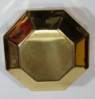 1970s Brass Octagon Shaped Trinket Box Red felt-lined - Treasure Valley Antiques & Collectibles