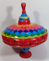 Vintage Automatic LBZ Rainbow Choral Top Spinning Metal Top