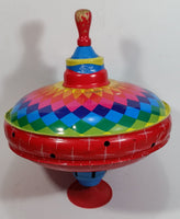 Vintage Automatic LBZ Rainbow Choral Top Spinning Metal Top - Treasure Valley Antiques & Collectibles