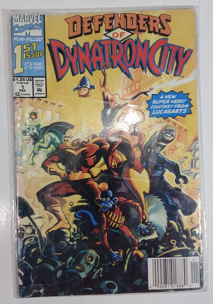 1992 Marvel Comics Defenders of Dynatron City Fun Filled 1st Issue Feb. Comic Book Near Mint
