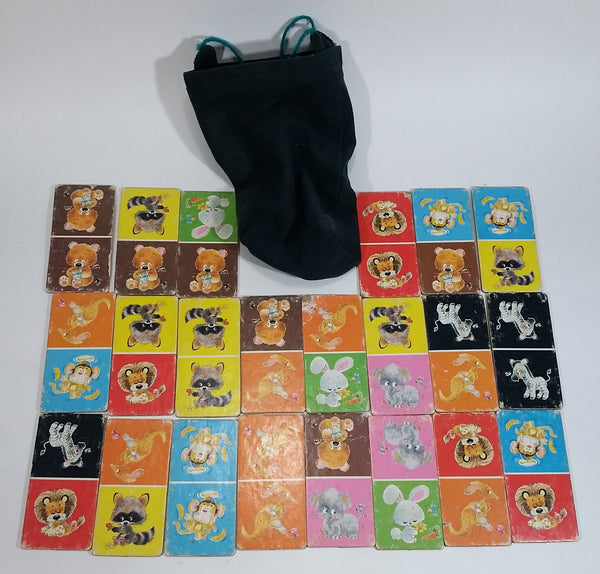 1970s Whitman Animal Dominoes Cardboard 22 cards (30 in the full set)