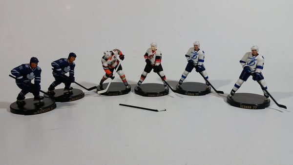 "2015 Import Dragons NHL Hockey Players 2 1/2"" Figurines Mixed lot of 6 Players Plus Extra Stick"
