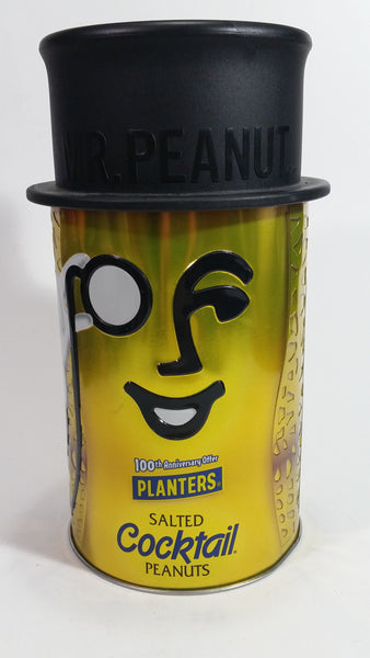 Mr. Peanut Salted Cocktail Peanuts 100th Anniversary Offer Metal Tin Canister Collectible