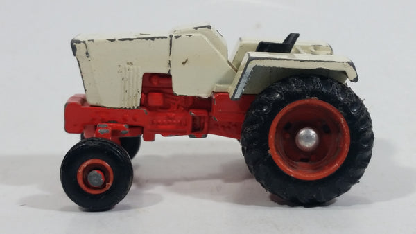 Vintage Ertl Case Agri King Farm Tractor White and Red Die Cast Toy Farming Machine Equipment Vehicle