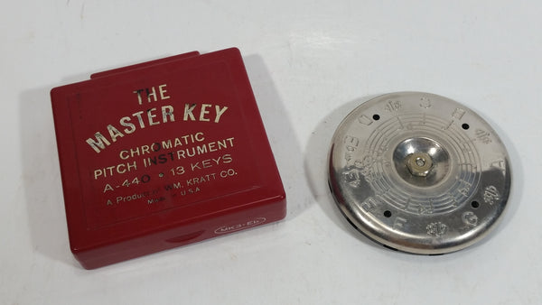 Vintage W. Kratt The Master Key Chromatic Pitch Instrument Tuner A-440 13 Keys With Case Made in U.S.A.