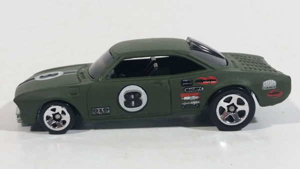 2006 Hot Wheels Vairy 8 Flat Dark Olive Army Green Die Cast Toy Muscle Car Vehicle
