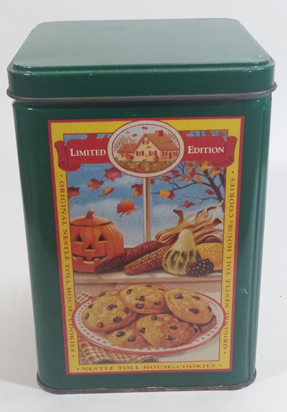 Limited Edition Nestle Toll House Cookie Four Seasons Style Green Tin