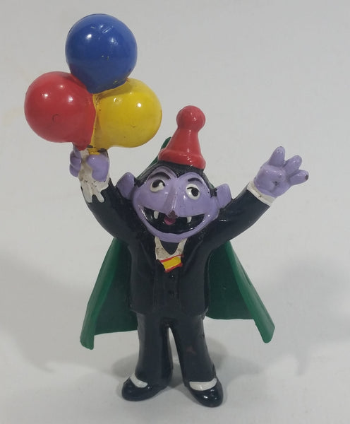 "Applause Muppets Count Von Count Holding Balloons Toy 3 3/4"" PVC Figurine"