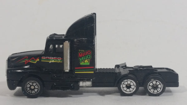 1992 Racing Champions Mello Yello Soda Pop Beverage Semi Tractor Truck Black Die Cast Toy Car Delivery Rig Vehicle - Treasure Valley Antiques & Collectibles