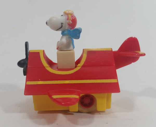 Vintage Rare 1966 United Features Syndicate Snoopy Flying Ace Doghouse Plastic Toy