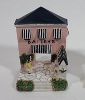 2002 Baileys By The Sea Series #4 / 4 Miniature Pink House Building Resin Decorations - Limited Edition - Treasure Valley Antiques & Collectibles