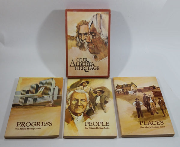 1971 Our Alberta Heritage Set of 3 Paperback Books People, Place, and Progress (With Cover)