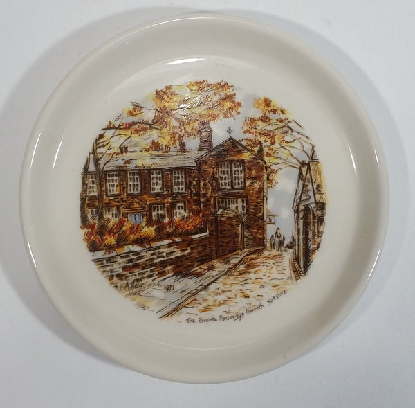 Vintage 1973 The Bronte Parsonage Haworth Yorkshire Ceramic Dish Plate Souvenir Travel Collectible