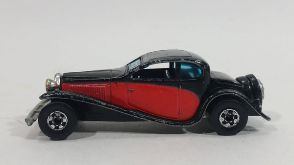 1981 Hot Wheels '37 Bugatti Black Red Die Cast Toy Classic Luxury Car Vehicle - Treasure Valley Antiques & Collectibles