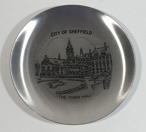 "City of Sheffield ""The Town Hall"" Decorative Metal Plate Souvenir Travel Collectible"