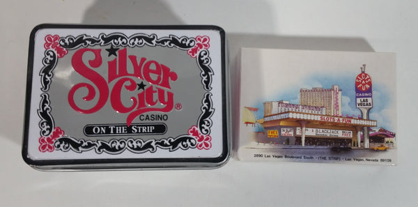 Las Vegas, Nevada Silver City Casino Slots of Fun Playing Cards with Packaging Inside Metal Tin Container - Treasure Valley Antiques & Collectibles