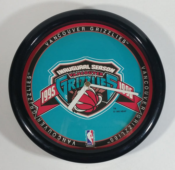 Vancouver Grizzlies Basketball Inaugural Season 1995-96 NBA Team Collectors Clock - Working