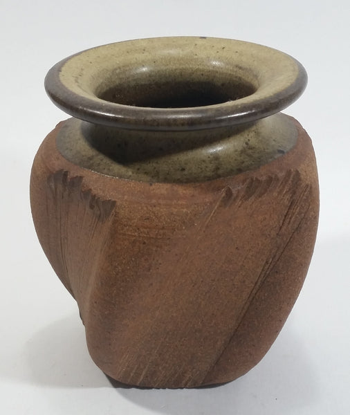 Miller Stoneware Handmade Twisted Style Flower Pot Planter