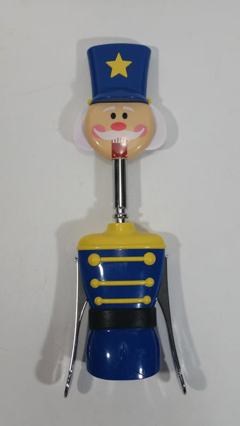 Cute Boston Warehouse Winter Holiday Christmas Blue Nutcracker Wine Bottle Corkscrew Opener - Treasure Valley Antiques & Collectibles