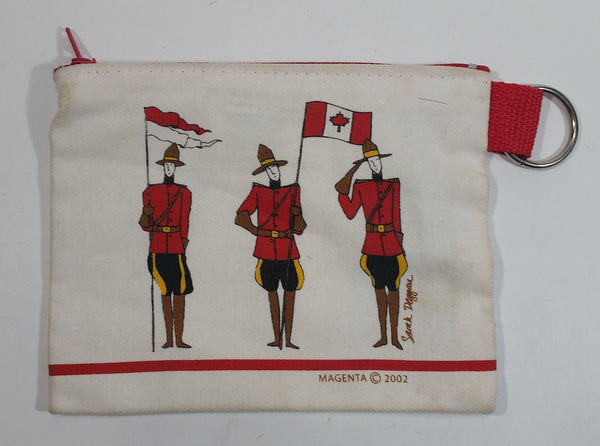 2002 Magenta RCMP Royal Canadian Mounted Police Sarah Deggan Small Pouch with Zipper