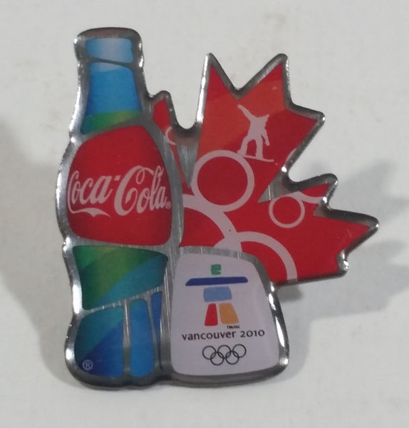 Coca-Cola Coke Soda Pop Beverage Vancouver 2010 Winter Olympics Sponsor Collectible Sports Pin - Treasure Valley Antiques & Collectibles