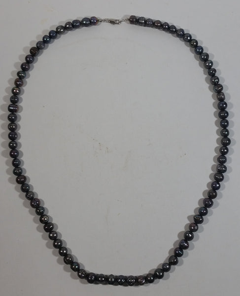 "Iridescent Black Blue Red Shine 30"" Tahitian Pearl Necklace"