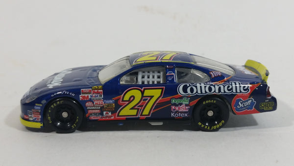 Very Hard to Find 2007 Action Racing NASCAR Ward Burton #27 Kleenex Cottonelle Huggies Scott Good Year Blue Die Cast Toy Race Car Vehicle