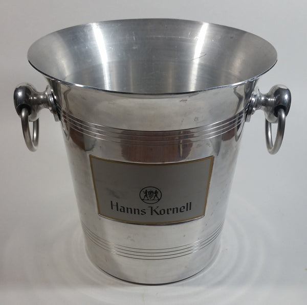 Vintage Hanns Kornell Winery Metal Ice Bucket with Handles Made in France
