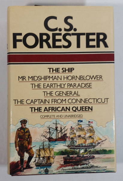 Vintage C.S. Forester The Ship, Mr Midshipman Hornblower, The Early Paradise, The General, The Captain From Connecticut, The African Queen Complete and Unabridged Hard Cover Book