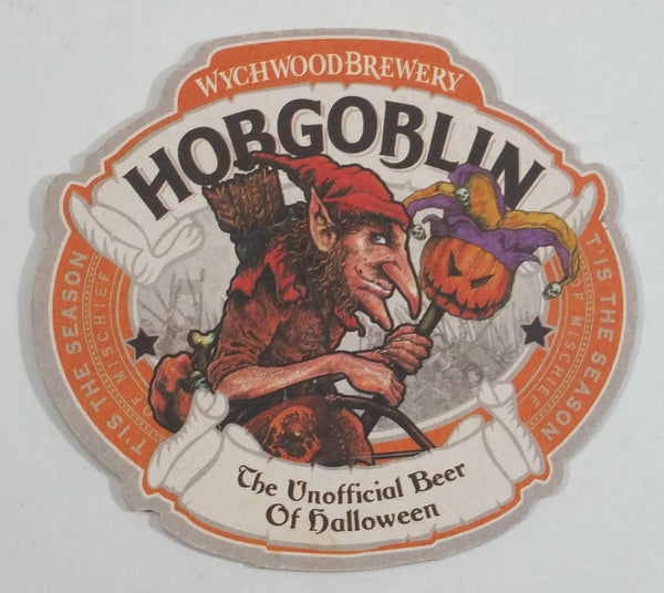 Wychwood Brewery Hobgoblin The Unofficial Beer of Halloween Tis The Season of Mischief Beer Drink Coaster