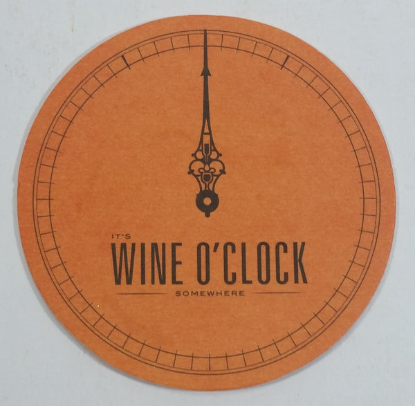 "It's Wine O' Clock Somewhere ""The Answer Is Wine"" Pale Orange Drink Coaster"