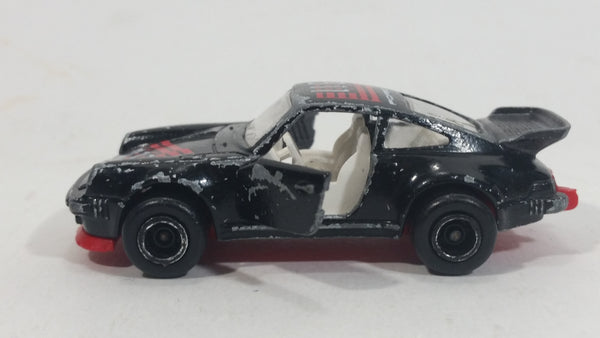 Vintage Majorette Porsche 911 Turbo No 209 Black 1 57 Scale Die