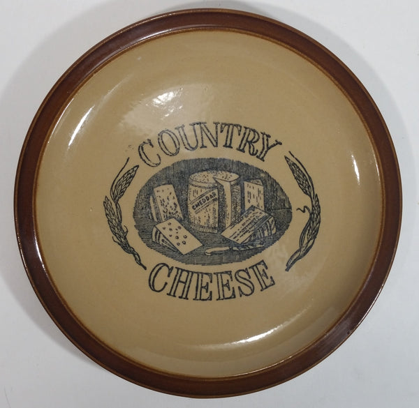 "A Country Cooking Original ""Country Cheese"" Rustic Vintage Styled 9"" Plate"
