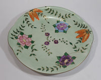 Beautiful 1954 Johnson Bros. Hand Painted Victorian Pattern Light Green with Pink, Purple, Blue Flowers Fine China Serving Platter - Signed J. Greenhow Pattern 2