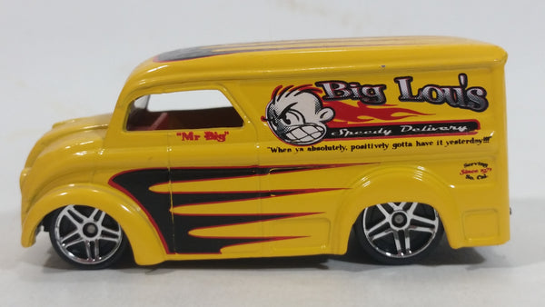 2001 Hot Wheels Dairy Delivery Truck Yellow Die Cast Toy Car Vehicle