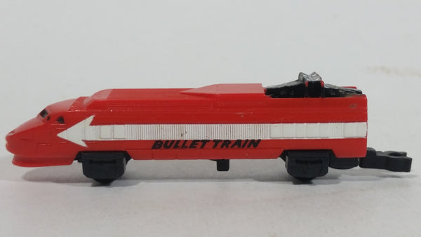 Vintage 1989 Micro Machines Red and White 16 Bullet Train Locomotive Toy