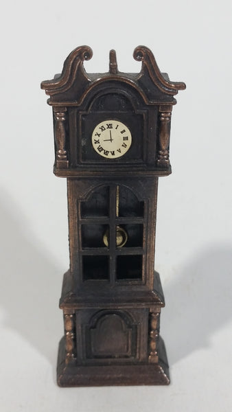 Vintage Miniature Grandfather Clock Metal Pencil Sharpener Doll House Furniture Size