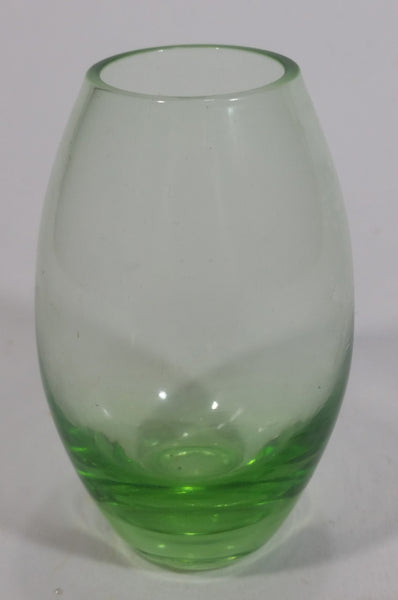"Vintage Green Colored Depression Glass Miniature 3"" Tall Vase"