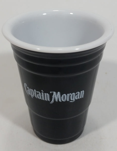 Captain Morgan Rum Small Black Hard Plastic Shot Glass