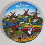 Beautifully Designed and Detailed Windmill Themed Keukenhof Holland The Netherlands Dutch Souvenir 3D Wall Plate Travel Collectible
