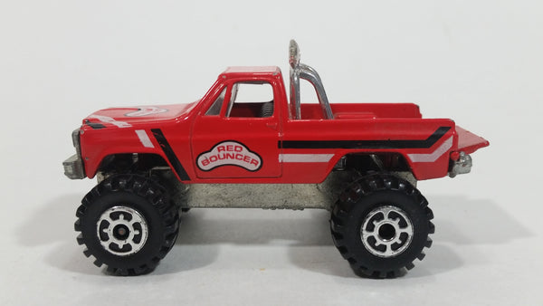 "Rare VHTF 1982 Racing Champions GMC High Roller ""Red Bouncer"" Truck Red Die Cast Toy Car Vehicle with Fold Down Tail Gate"
