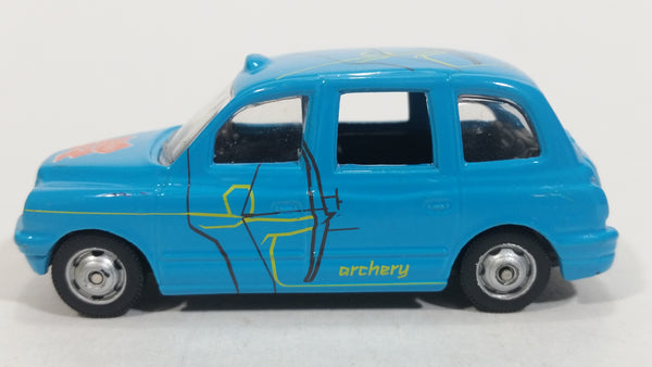 Corgi London 2012 Summer Olympic Games Taxi #9 Archery Blue Die Cast Toy Car Vehicle
