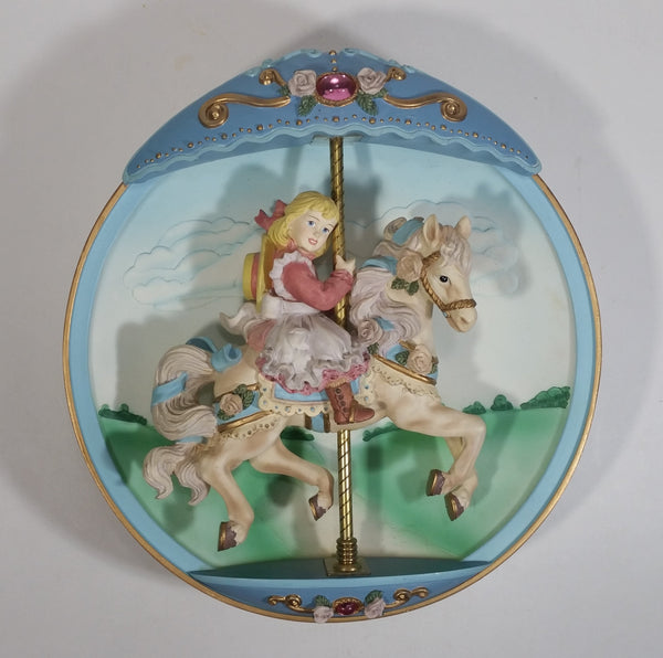 "1994 The Bradford Exchange Carousel Day Dreams ""Swept Away"" Wind Up Musical Collector Plate"