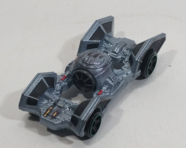 2017 Hot Wheels Star Wars Carships Tie Fighters Pearl Slate Grey Die Cast Toy Car Space Vehicle - Treasure Valley Antiques & Collectibles