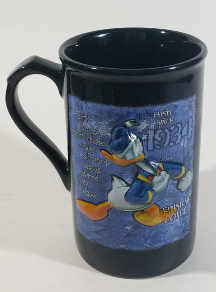 Authentic Original Disney Theme Parks Donald Duck Since 1934 Feisty Fowl 3D Dark Blue Ceramic Coffee Mug - Cartoon Character Collectible